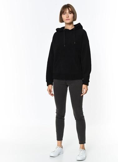 Only Peluş Sweatshirt Siyah